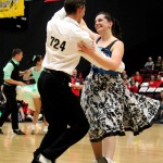 Karl and Katie competing in the 2014 senior nationals in Invercargill