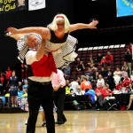 Gordon and Reawyn Hall competing at the senior nationals in Invercargill 2014