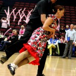 Karen Birch and Rick Oudt competing in the Masters section at the senior nationals 2014