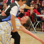 Jaxon Taylor and Kiera Rogers competing at the junior nationals 2015