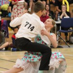 Connor Ross and Amber Grantham competing at the junior nationals 2015