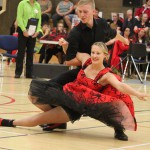 Josh Payne and Hannah Grantham competing at the junior Nationals 2015