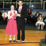Katie and Karl winning the open restricted 2010 club champs