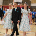 Connor Ross, Amber Grantham and Hannah Fitzgerald competing at the 2015 junior nationals Intermediate triples