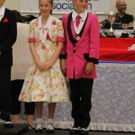 Qiunn and Hannah, 4th place in Intermediate 2013 nationals