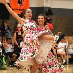 Brittany and Emma dancing in the same sex section, 2013 nationals