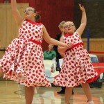 Hannah and Rachel dancing in their same sex section, 2013 nationals