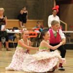 Qiunn, Hannah and Amber dancing in their triples section, 2013 nationals