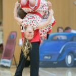 Issabella O'Donnell and George Hall dancing in their Intermediate final in Christchurch 2013